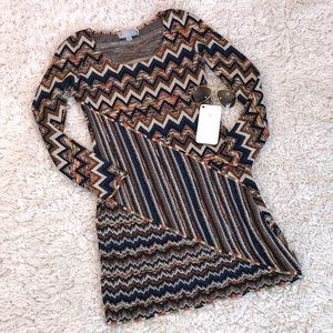 Missoni Knit Metallic Long Sleeve Dress